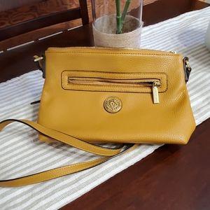 Anne Klein mustard crossbody purse
